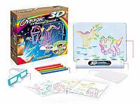 Доска для рисования с 3D-эффектом игровой набор Toy Magic 3D динозавр
