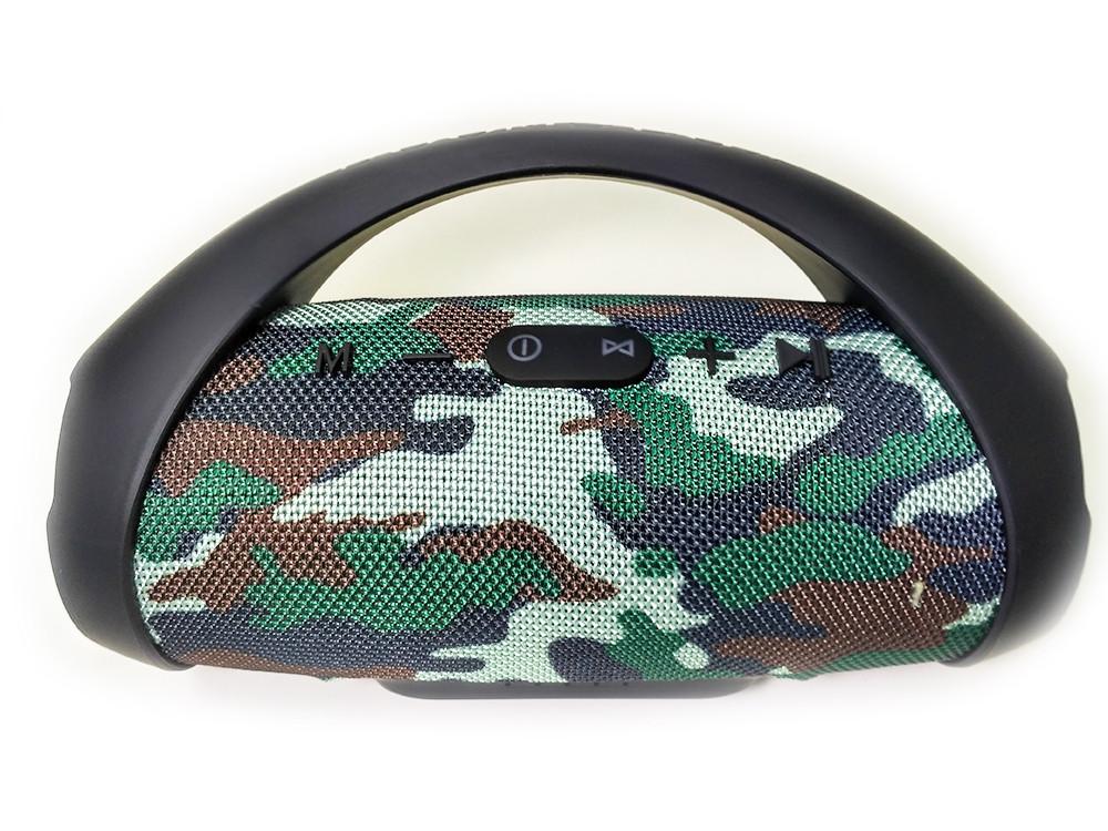 Портативный bluetooth бумбокс колонка MP3 плеер waterproof водонепроницаемая Power Bank BOOM BASS MINI Camo