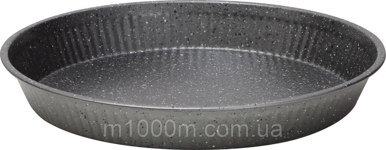 Форма круглая тарталетка Bergner 5443, 28*3см, (мрамор)