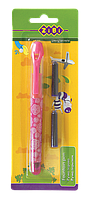 Ручка перьевая + 2 капсулы, розовый корпус, блистер zb.2243