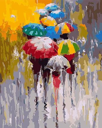 AS0182 Набор-раскраска по номерам Яркие зонтики, фото 2