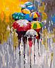 AS0182 Набор-раскраска по номерам Яркие зонтики