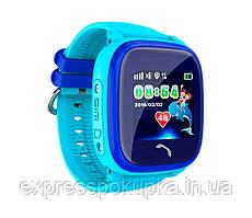 Водонепроницаемые Умные Детские Часы с GPS трекером Smart Baby Watch DF25 (Q100 Aqua/Q300) Голубой