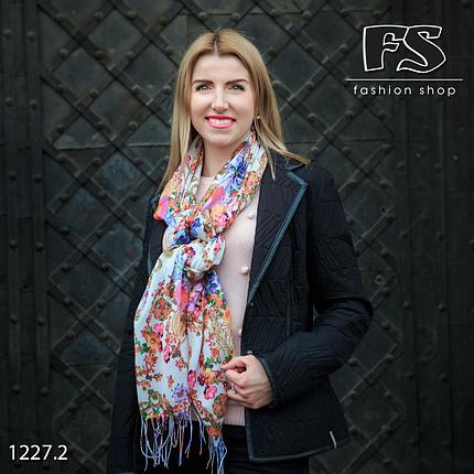 Лёгкий шарф Цветочный Бум, фото 2