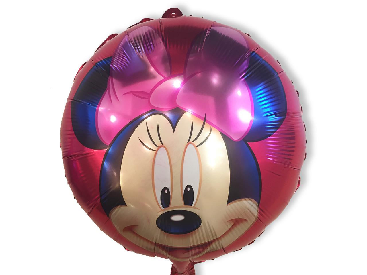 Фольгированный шар Мини Маус с бантиком