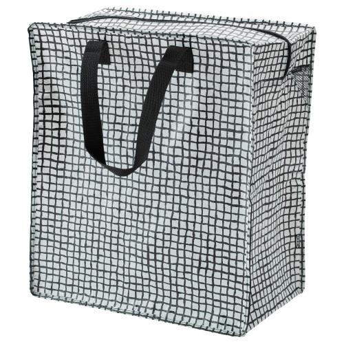 КНЭЛЛА Сумка, черный/белый, 47 л 00330487 IKEA, ИКЕА, KNALLA