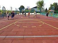 Резиновая плитка для спортивных и игровых площадок 30 мм 25/7