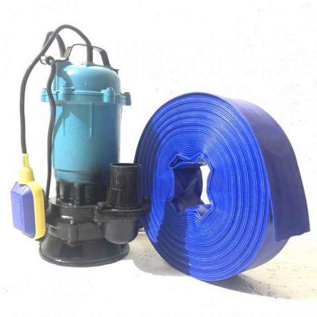 Фекальный насос чугун с измельчителем POLAND (DELTA 1.1) + шланг 25м + 2 года гарантии сертификат