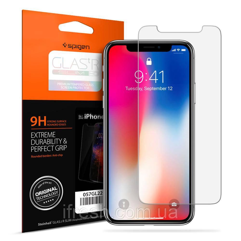 Защитное стекло для iPhone X SLIM HD (2шт)