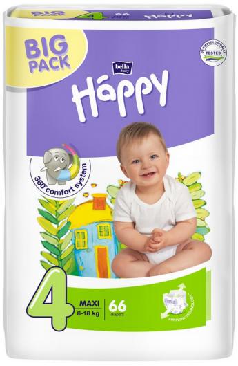 Підгузки Bella Happy 4 Maxi (8-18кг) №66 Green tea
