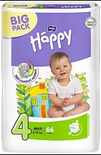 """Подгузники """"Bella"""" Happy 4 Maxi (8-18кг) №66 Green tea"""