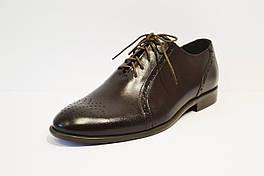 Темно-коричневые кожаные полу-броги Tapi 6006