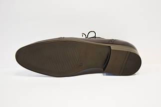 Темно-коричневые кожаные полу-броги Tapi 6006, фото 3