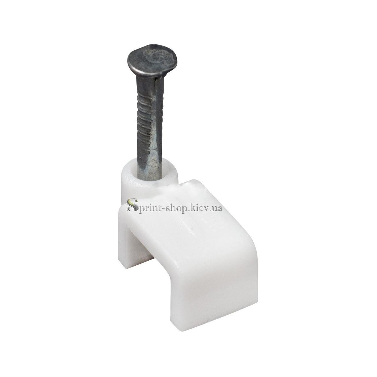 Скоба для крепления кабеля плоская 8мм/4мм