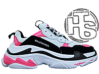 Женские кроссовки Balenciaga Triple S Trainers White/Black/Pink