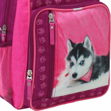 принт собачка на портфеле