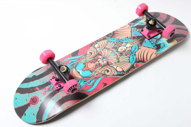 Скейт деревянный от Fish Skateboard скейтборд Овен Канадский клен