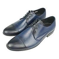 Сині чоловічі туфлі Tapi C-5970/P13 Gzanatow на шнурках