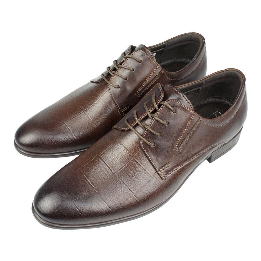Чоловічі польські туфлі Tapi D-6041/P13 Brazowy коричневого кольору