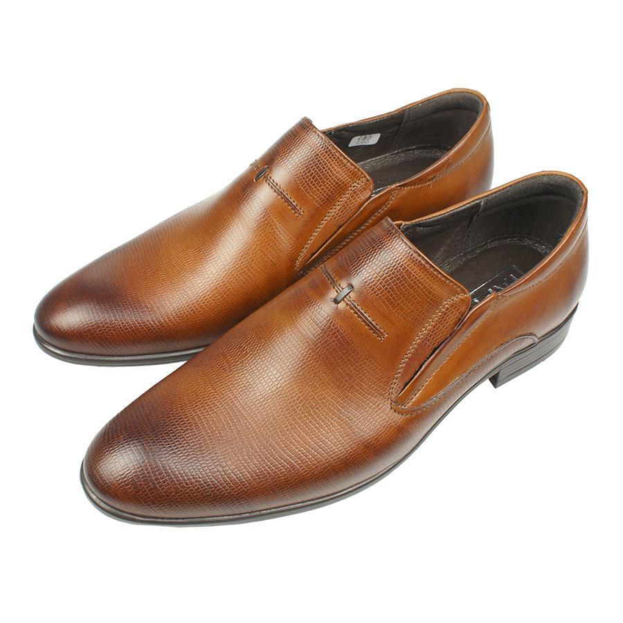 Коричневі шкіряні туфлі Tapi B-6083/P4 Brazowy для чоловіків