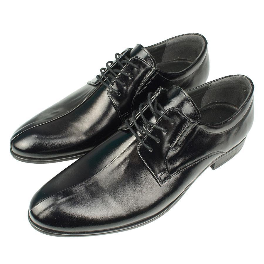 Класичні лакові чоловічі туфлі BUCCI 317/01 Gzarny чорного кольору