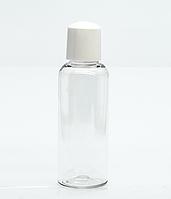 Флакон косметический прозрачный (бутылочка) крышка колпачек, 50 мл.