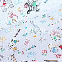 ✁ Відрізи тканини Малюнки в зошиті, фото 1
