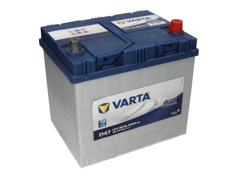 Аккумулятор VARTA BD 60Ah EN540 R+ Asia (D47)