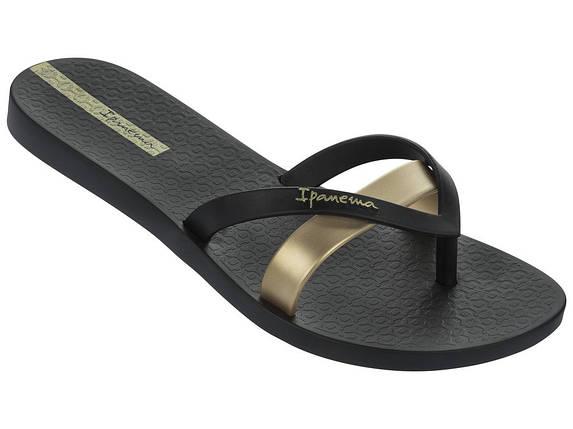 Оригинал Вьетнамки женские 81805-24006 Ipanema Kirey Black/Gold Черные, фото 2
