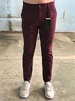 Штаны мужские бордовые бренда Only Sons в размерах, фото 1