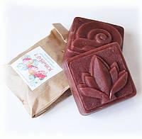 Натуральное мыло КЛУБНИЧНОЕ подарок ручной работы, фото 1