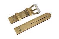 Кожаный ремешок для часов Banda BN014-22 22 мм (Италия)   Коричневый