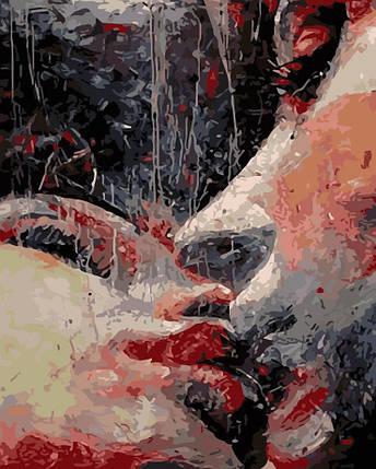 AS0188 Набор-раскраска по номерам Страстный поцелуй, фото 2
