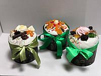 Пасхальный кулич на заказ с шоколадной глазурью, фото 1