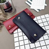 Женский черный кошелек Snap, фото 1