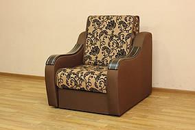 Кресло-Кровать Марта 0,6 Нео флок голд браун и Нео браун 22 (Катунь ТМ)