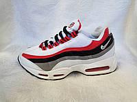 Женские Nike air max 95 белые сетка с красным, фото 1