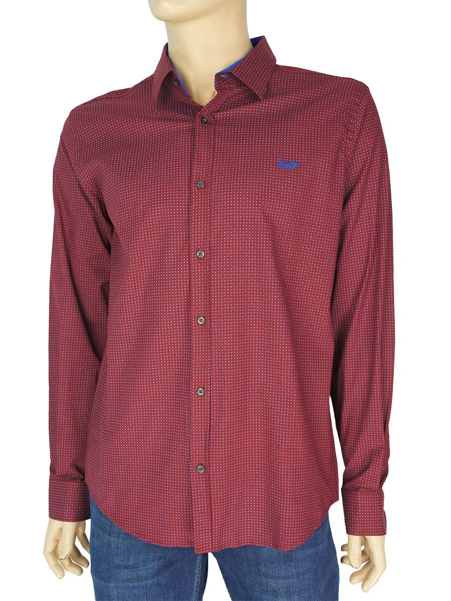 Турецька чоловіча сорочка Еnisse EGU 1343TR3776 H в бордовому відтінку