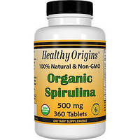 Healthy Origins, Органическая спирулина, 500 мг, 360 таблеток