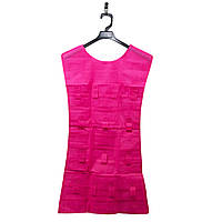 Двухсторонний органайзер для украшений Платье розовое