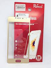 Защитное стекло Meizu M5c Gold