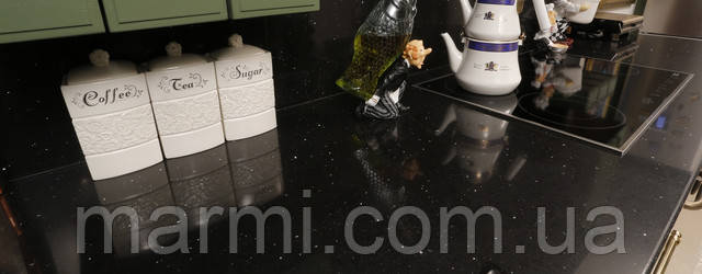 Кварцевый искусственный камень Gala Black 5751