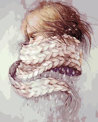 AS0196 Набор-раскраска по номерам Девушка-зима, фото 2