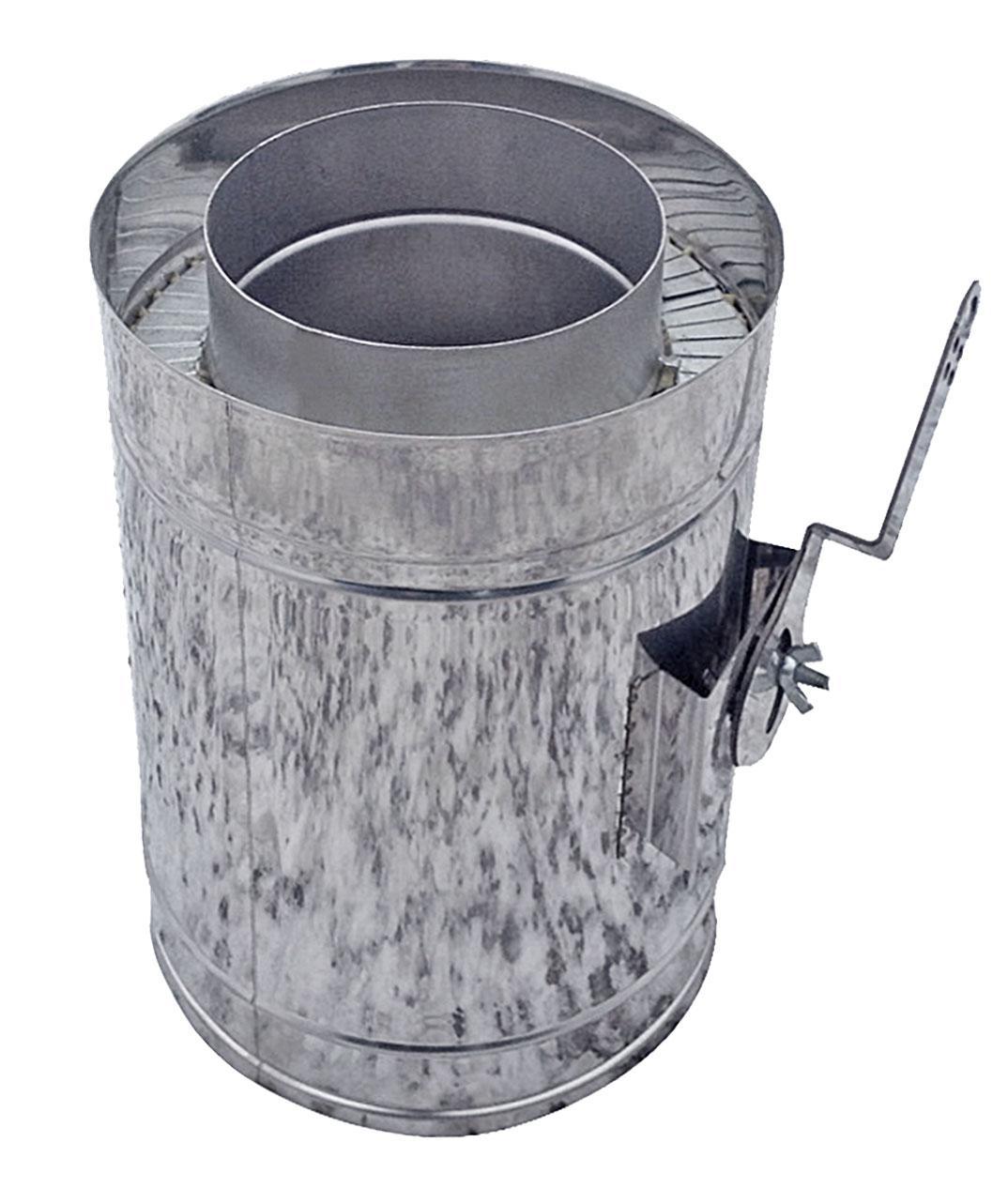 Регулятор тяги для дымохода двустенный нерж/нерж Версия Люкс D-400/460 толщ. 0,6 мм