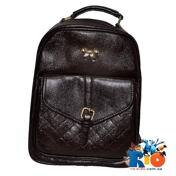 Школьная сумка (рюкзак) 34х26 см, из эко-кожи(мин.заказ-1 ед)