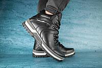 Мужские зимние ботинки PAV Черные 10522 Реплика