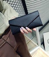 Женский черный кошелек Сover , фото 1