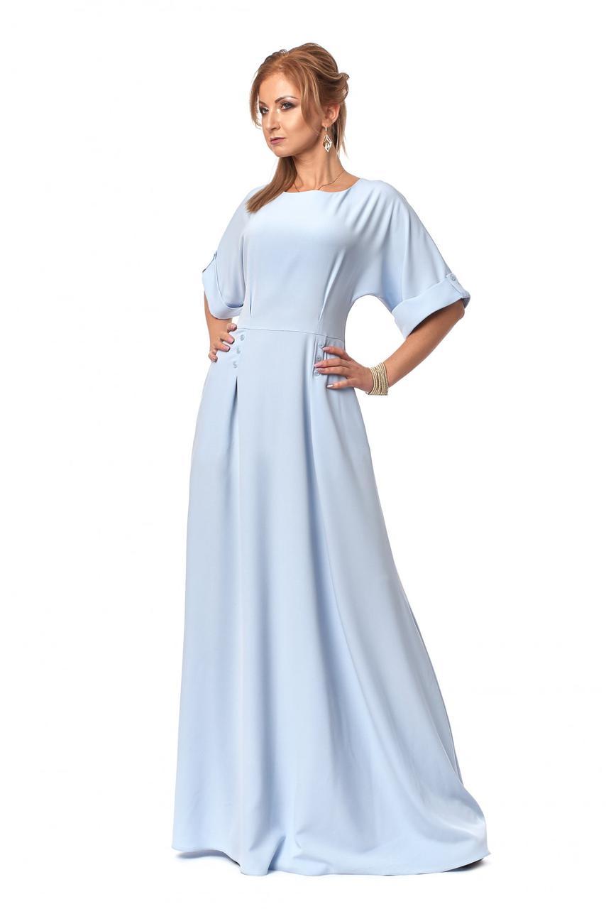 Оригинальное длинное женственное платье р. 44