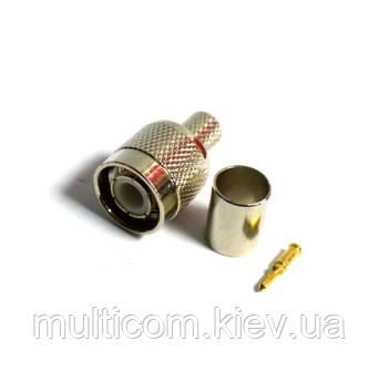 01-11-007. Штекер TNC (RG-6) под кабель, обжимной, металл