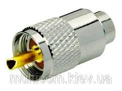 01-20-02. Штекер UHF (RG-11) под кабель накрутка, латунь